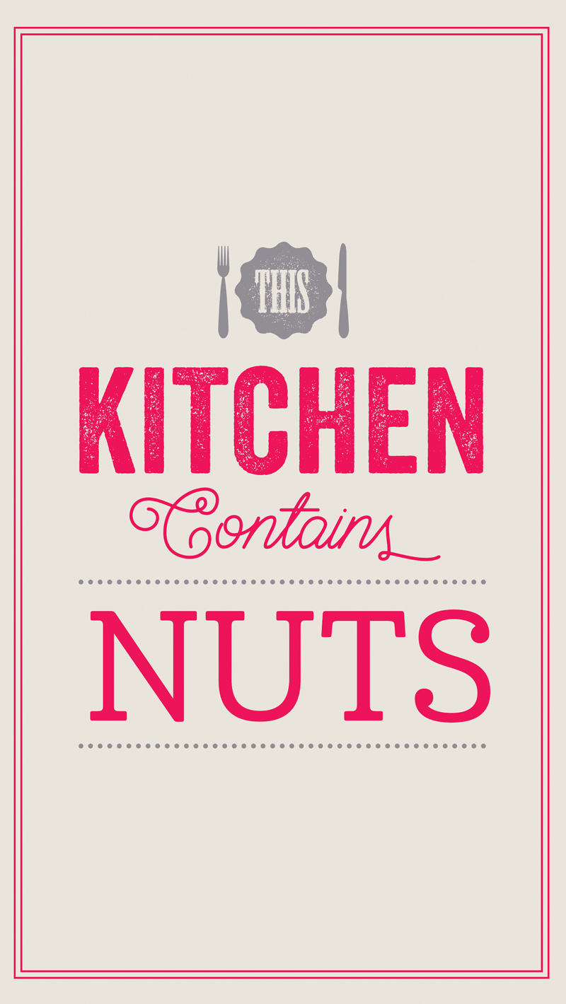 This Kitchen Contains Nuts Textile Gift Products